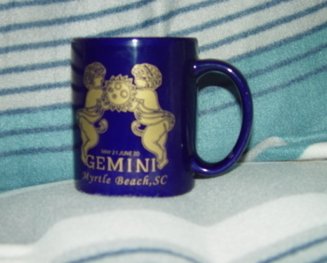 Primary image for Cobalt Blue Ceramic Gemini May 21- June 20 Myrtle Beach, SC Cup - Mug