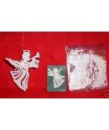 4 sets WHITE Glittered 3-D Plastic ANGEL Ornaments - $7.00
