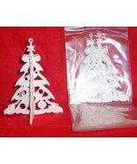 3 sets Glittered 3-D Plastic WHITE TREE Ornaments - $7.00
