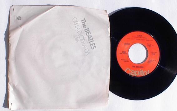 Beatles 45 RPM Picture Sleeve and Record Ob La Di