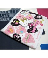 PURSE GIRLS WHITE & PINK HELLO KITTY ZIP COIN P... - $4.99