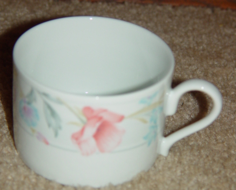 Primary image for American Limoges Fine Porcelain Flowers Cup