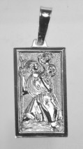 Sterling Silver St. Saint Christopher PATRON OF TRAVELERS charm pendant ... - $24.74