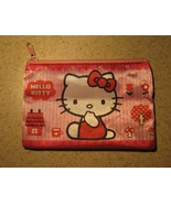 PURSE GIRLS PINK HELLO KITTY ZIPPERED COIN PURSE #416 - $4.99