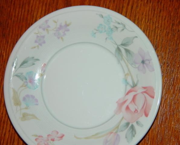 American Limoges Fine Porcelain Flowers Saucer