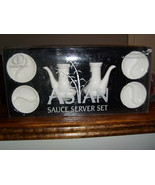 Global Decor asian sauce server set in white new in box - $21.00
