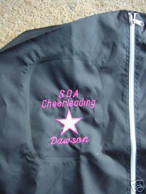 Primary image for Personalized Girls Cheer Cheerleader Cheerleading Team Competition Garment Bag
