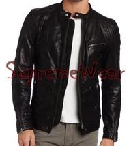 Handmade New Men Latest Buckled Back Leather Jacket, Leather jacket for men, Men - $189.00
