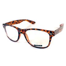 Retro Old School Horned Rim Nerdy Geek Clear Lens Plastic Eye Glasses Frame - $7.95