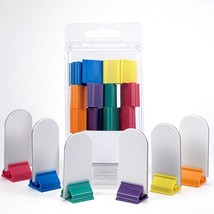 Value Pack of 12 - Blank board game stand-up player pieces with multi-color card - $15.68