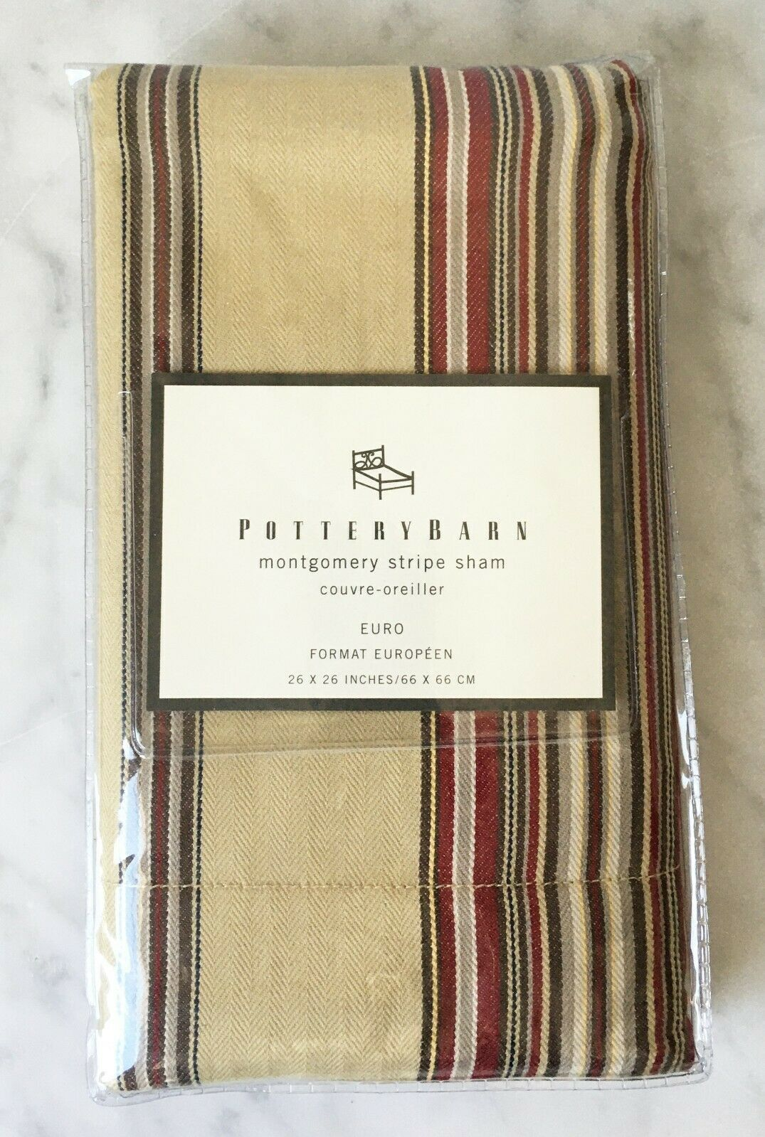 Pottery Barn Montgomery Stripe Euro Pillow And 49 Similar Items