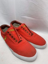 Polo Ralph Lauren Vito Mens Fashion Laceless Sneakers Canvas/Leather Size 12D - $22.27
