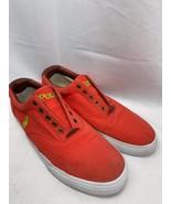 Polo Ralph Lauren Vito Mens Fashion Laceless Sneakers Canvas/Leather Siz... - $19.30