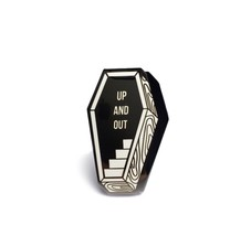FUNERAL COFFIN UP AND OUT  PIN BY CREEPY CO. GOTH HORROR - $13.85