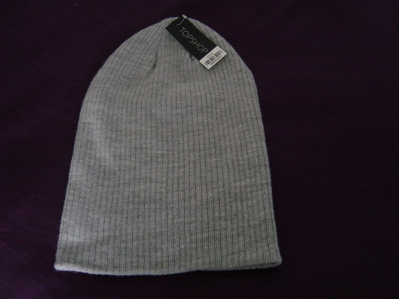 Topshop Ribbed Beanie in Grey NWT