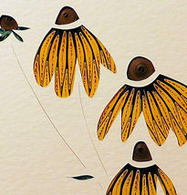 Quilled Black Eyed Suzies - $175.00