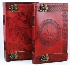 Locking Celtic Leather Blank Book Journel New - $46.95