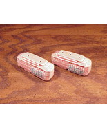 Pink Ceramic San Francisco Cable Car Salt and Pepper Shakers - $7.95