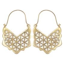 Arrow Shape  Brass Earrings Hoop Earrings Brass Earrings Fashion Tribal Earrings - $19.99