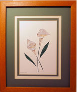 Quilled Calla Lilies - $175.00