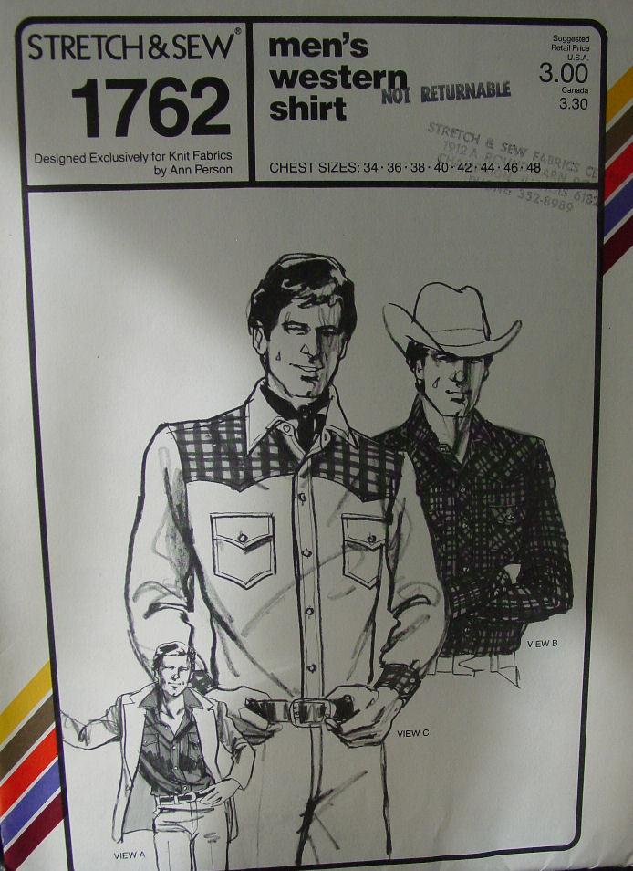 "Pattern:Men's Western Shirt 34-46"" Chest"