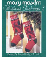 Mary Maxim Christmas Stockings 2 Knitting Patte... - £27.05 GBP