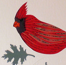 Quilled Cardinal - $175.00