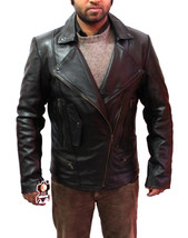 New Handmade Men Large Brando Collar Style Leather Jacket, Leather jacke... - $139.00