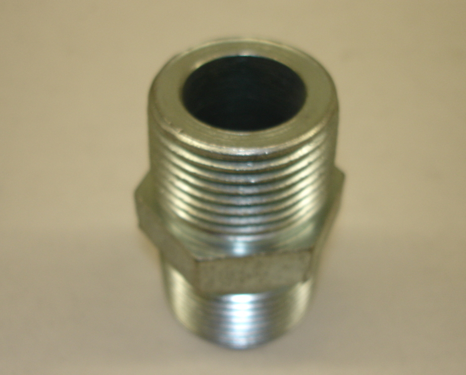 Hex Nipple Steel Pipe Fitting 1""