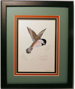 Quilled Chickadee in Flight handcrafted wall ar... - $175.00