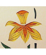 Quilled Daffodil handcrafted original wall art ... - $175.00