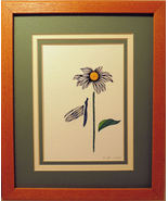 Quilled Daisy and Dragonfly - $175.00