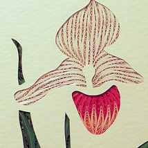 Quilled Showy Lady's Slipper - $175.00
