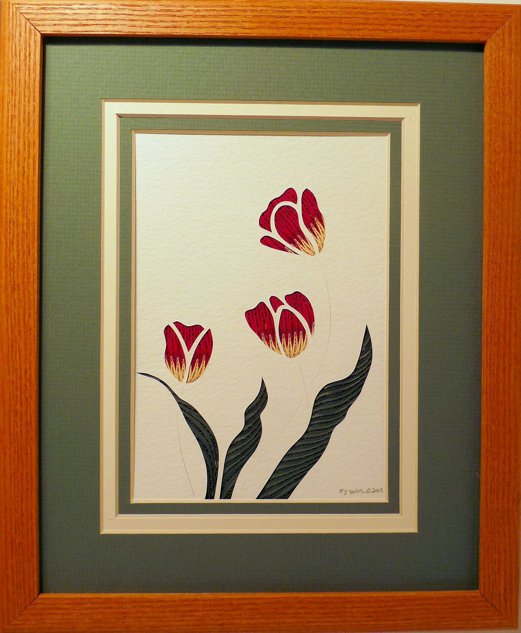Quilled Tulips