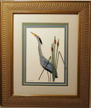 Quilled Blue Heron  - $175.00