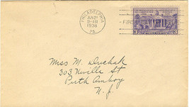 Constitution Sesquicentennial First Day Cover June 21, 1938 - $2.00