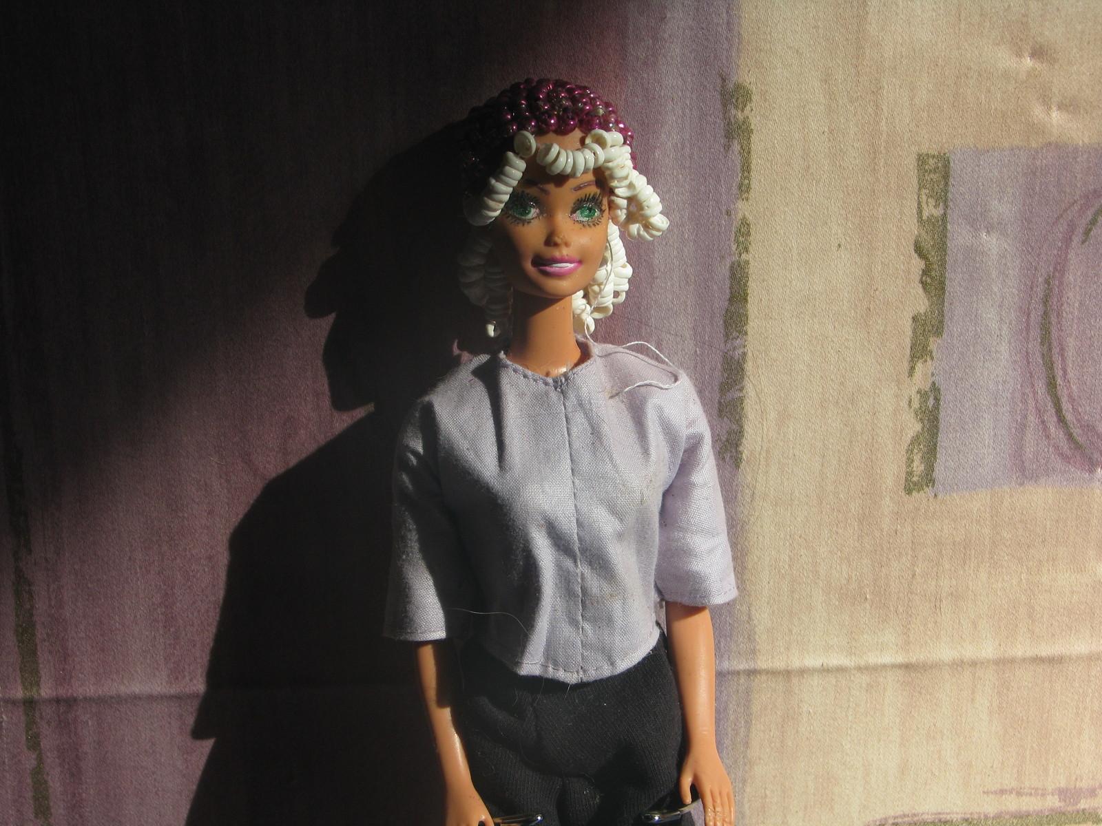 Beaded Hair Fashion Doll Haleeah OOAK Refashioned Barbie