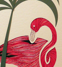 Quilled Flamingo - $175.00