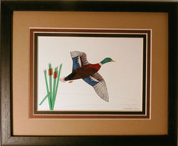 Quilled Mallard in Flight - $175.00