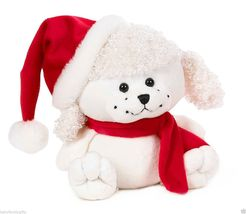"""Whimsy Pets Christmas Poodle 7.5"""" [GANZ] Brand New  - $23.48"""