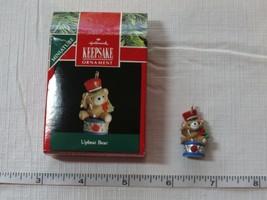 Hallmark keepsake ornament handmade optimistic miniature bear 1991 used - $15.97