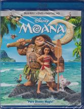 Disney Moana (2017, Blu-ray + DVD + Digital)