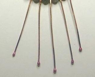 Copper & Rhoylite Gemstone Wire Work Chain Style Necklace