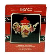 1990 Enesco Holiday Tea Toast Mouse Christmas Ornament - $25.00