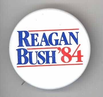 Reagan Bush '84 political pinback vintage US Pesident campaign button