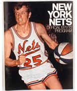 NY Nets 1971/72 Official Program Bill Melchionni Signed ABA Pro Basketball - $35.00