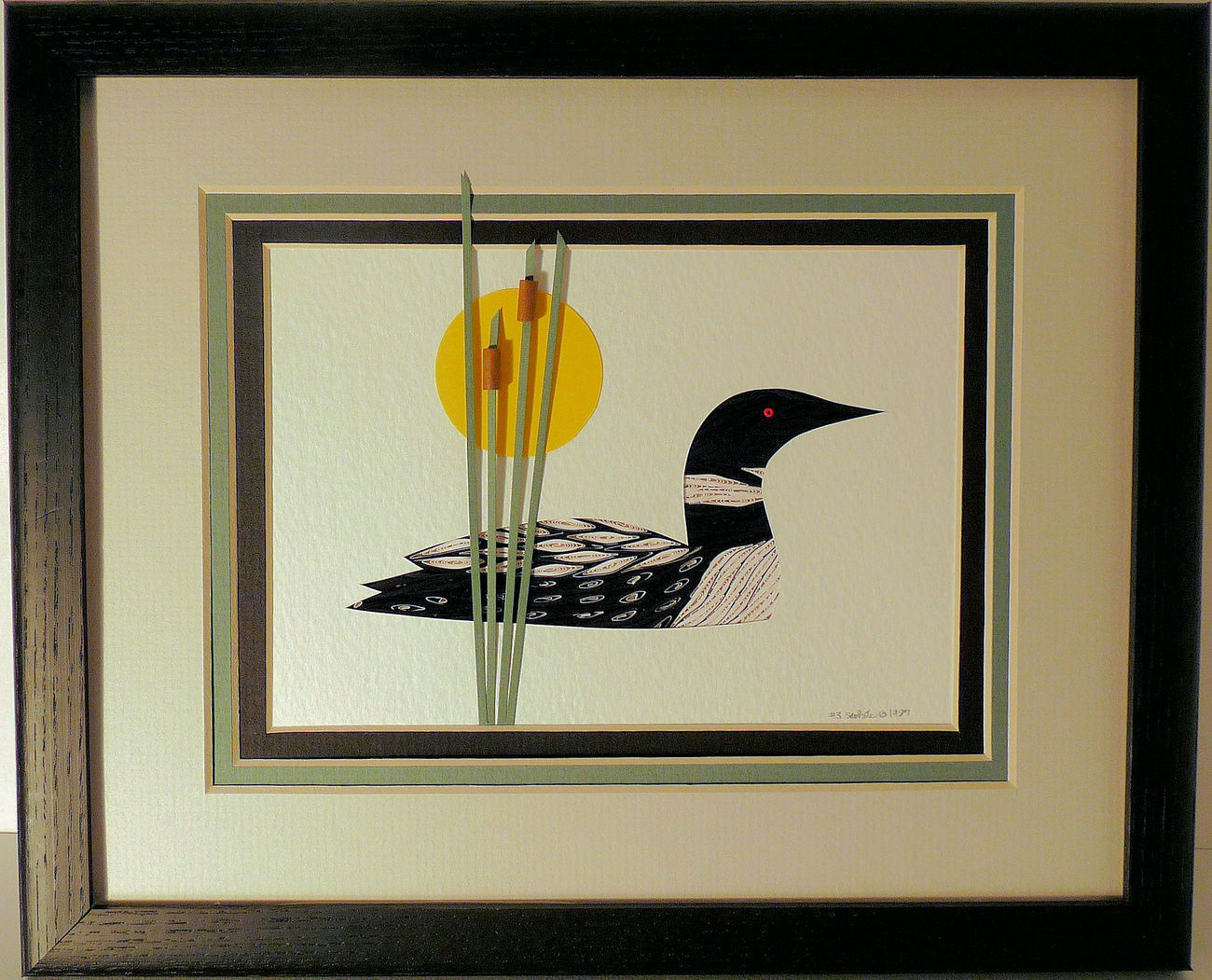 Loon Quilled and Framed Wall Art New Hampshire