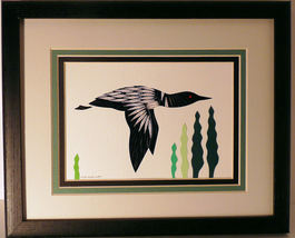 Quilled Loon in Flight - $175.00