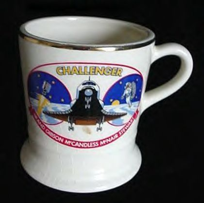 Old Nasa Challenger Space Shuttle Coffee Cup Mug - Astronauts