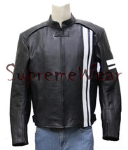 Custom made Handmade Motorcycle Leather Jacket with Pads, Leather Jacket... - $139.00